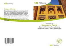 Bookcover of Mosque of Rome