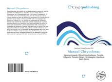 Bookcover of Manuel Chrysoloras