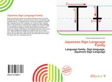 Bookcover of Japanese Sign Language Family