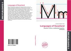 Bookcover of Languages of Swaziland