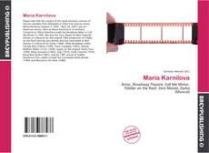 Maria Karnilova kitap kapağı