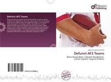 Buchcover von Defunct AF2 Teams