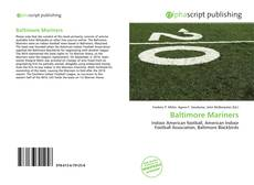 Capa do livro de Baltimore Mariners