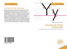 Copertina di Journal of Child Language