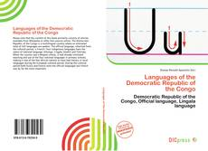 Portada del libro de Languages of the Democratic Republic of the Congo