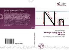 Portada del libro de Foreign Languages in Prisons