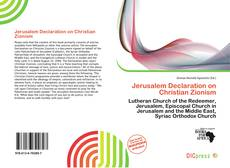 Bookcover of Jerusalem Declaration on Christian Zionism