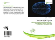 Capa do livro de Maudsley Hospital