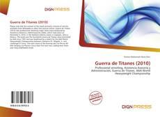 Capa do livro de Guerra de Titanes (2010)