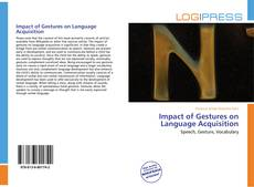 Impact of Gestures on Language Acquisition kitap kapağı