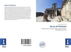 Bookcover of Acca of Hexham