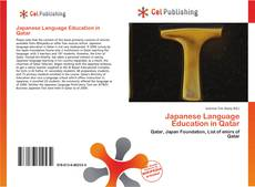 Capa do livro de Japanese Language Education in Qatar