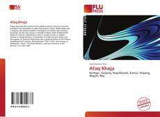 Buchcover von Afaq Khoja