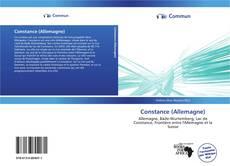 Capa do livro de Constance (Allemagne)
