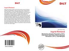 Buchcover von Ingrid Rimland