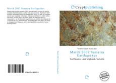Buchcover von March 2007 Sumatra Earthquakes