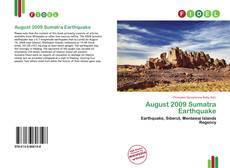 Bookcover of August 2009 Sumatra Earthquake