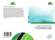 Bookcover of Content Negotiation