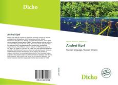 Bookcover of Andrei Korf