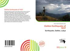 Bookcover of Galilee Earthquake of 1837