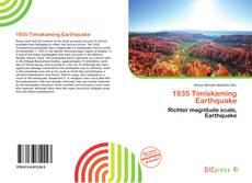 Portada del libro de 1935 Timiskaming Earthquake