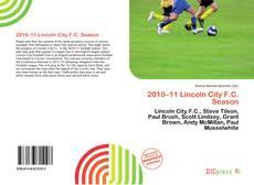 Обложка 2010–11 Lincoln City F.C. Season