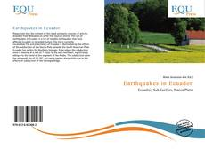 Bookcover of Earthquakes in Ecuador