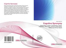 Bookcover of Cognitive Synonymy