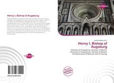 Capa do livro de Henry I, Bishop of Augsburg
