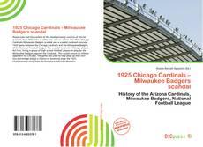 Copertina di 1925 Chicago Cardinals – Milwaukee Badgers scandal