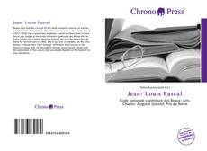 Buchcover von Jean- Louis Pascal