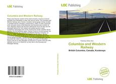 Bookcover of Columbia and Western Railway