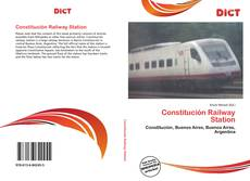 Bookcover of Constitución Railway Station
