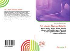 Buchcover von 1st Libyan Division Sibelle