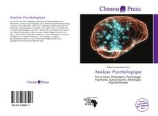 Portada del libro de Analyse Psychologique