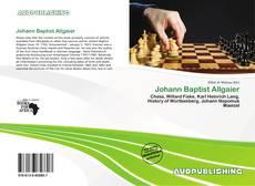 Johann Baptist Allgaier的封面