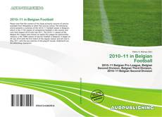 2010–11 in Belgian Football kitap kapağı