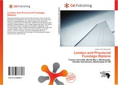 Buchcover von London and Provincial Fuselage Biplane