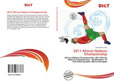 Bookcover of 2011 African Nations Championship