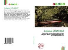 Criticism of NASCAR kitap kapağı