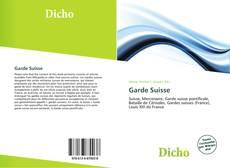 Capa do livro de Garde Suisse