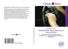 Capa do livro de Automobile Manufacturers Association