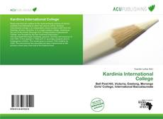 Kardinia International College kitap kapağı