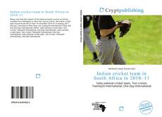 Bookcover of Indian cricket team in South Africa in 2010–11