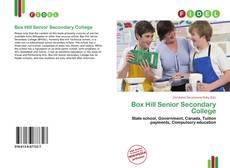 Bookcover of Box Hill Senior Secondary College