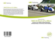 Capa do livro de 1965 24 Hours of Le Mans