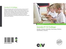 Couverture de Goroke P-12 College
