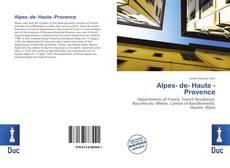 Alpes- de- Haute -Provence kitap kapağı