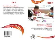Bookcover of Lakeside Lutheran College