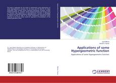 Copertina di Applications of some Hypergeometric function